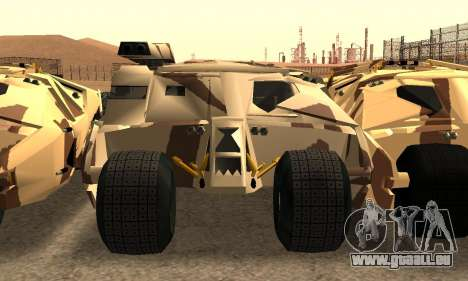 Army Tumbler Gun Tower from TDKR für GTA San Andreas obere Ansicht