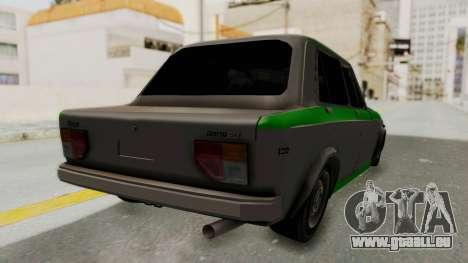 Fiat 128 De Picadas pour GTA San Andreas sur la vue arrière gauche