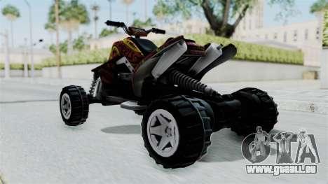 Sand Stinger from Hot Wheels v2 pour GTA San Andreas sur la vue arrière gauche