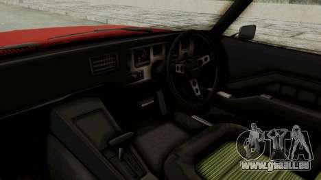 Holden Monaro GTS 1971 SA Plate IVF pour GTA San Andreas vue intérieure
