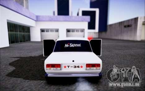 VAZ 2107 FIV pour GTA San Andreas vue arrière