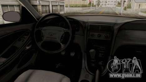 Ford Mustang 1999 Monster Truck für GTA San Andreas Innenansicht