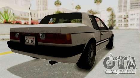 Imponte Bravura V6 Sport 1990 für GTA San Andreas linke Ansicht