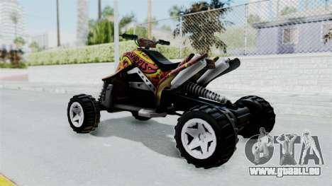 Sand Stinger from Hot Wheels Worlds Best Driver pour GTA San Andreas laissé vue