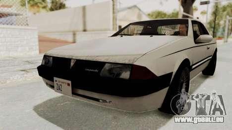 Imponte Bravura V6 Sport 1990 für GTA San Andreas rechten Ansicht