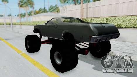 Chevrolet El Camino 1973 Monster Truck für GTA San Andreas zurück linke Ansicht