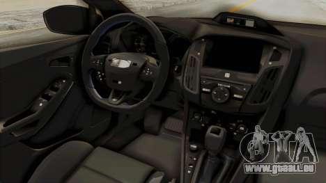 Ford Focus RS 2017 Rocket Bunny pour GTA San Andreas vue intérieure