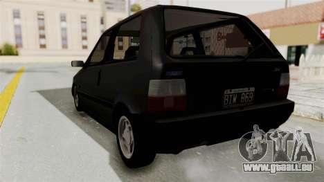 Fiat Uno für GTA San Andreas rechten Ansicht