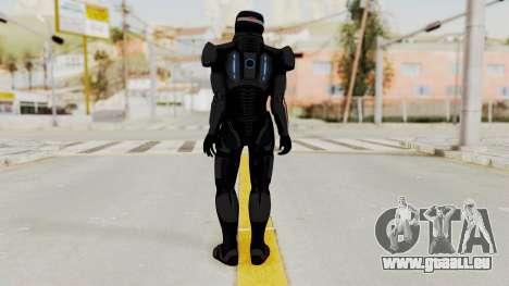 ME2 Shepard Default N7 Armor with Capacitor Helm pour GTA San Andreas troisième écran