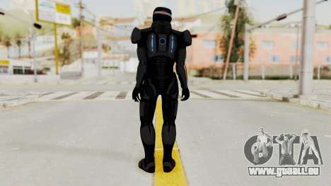 ME2 Shepard Default N7 Armor with Capacitor Helm für GTA San Andreas dritten Screenshot