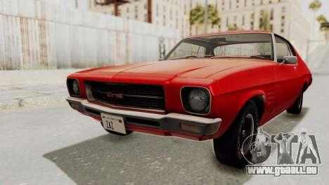Holden Monaro GTS 1971 SA Plate IVF pour GTA San Andreas vue de droite