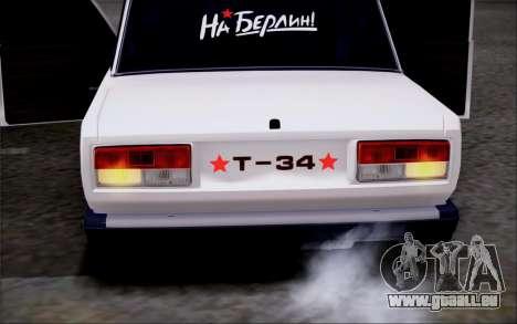 VAZ 2107 FIV pour GTA San Andreas sur la vue arrière gauche