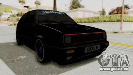 Volkswagen Golf 2 GTI pour GTA San Andreas vue de droite