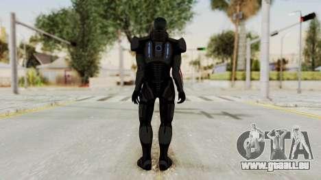 Mass Effect 2 Shepard Default N7 Armor No Helmet pour GTA San Andreas troisième écran