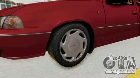 Daewoo Cielo 1.5 GLS 1998 pour GTA San Andreas vue arrière