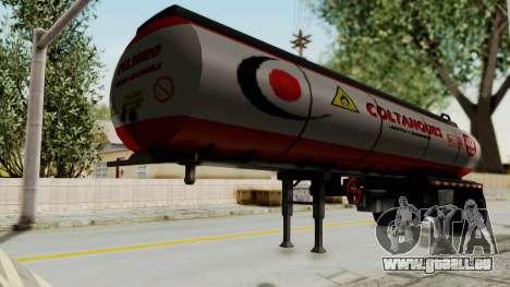 Trailer de Conbustible für GTA San Andreas zurück linke Ansicht