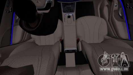 Mercedes-Benz w222 für GTA 4 Rückansicht