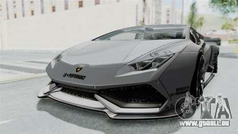 Lamborghini Huracan LP610-4 2015 Liberty Walk LB pour GTA San Andreas vue de droite