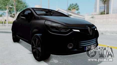 Renault Clio 4 IVF pour GTA San Andreas vue de droite