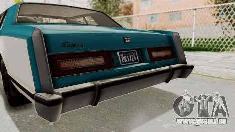 GTA 5 Dundreary Virgo Classic IVF pour GTA San Andreas vue de côté