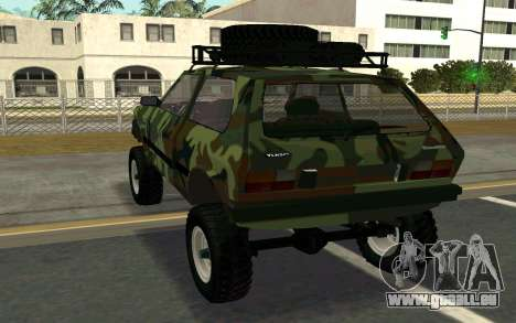 Zastava Yugo pour GTA San Andreas sur la vue arrière gauche