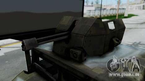 Humvee M1114 Woodland für GTA San Andreas Rückansicht