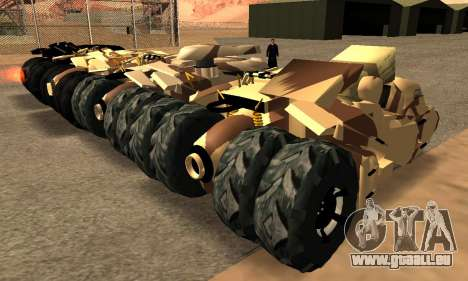 Army Tumbler Gun Tower from TDKR pour GTA San Andreas vue intérieure