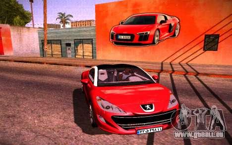 Audi R8 Wall Grafiti für GTA San Andreas zweiten Screenshot