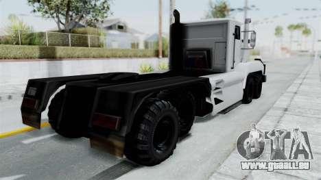Roadtrain 8x8 v1 pour GTA San Andreas sur la vue arrière gauche