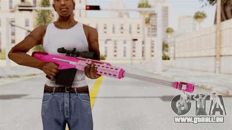 GTA 5 Heavy Sniper Pink pour GTA San Andreas troisième écran