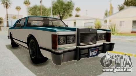 GTA 5 Dundreary Virgo Classic IVF pour GTA San Andreas sur la vue arrière gauche