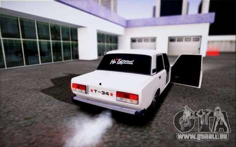 VAZ 2107 FIV pour GTA San Andreas laissé vue