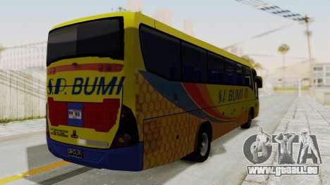 Marcopolo SP Bumi Express pour GTA San Andreas sur la vue arrière gauche
