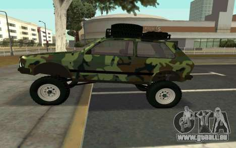 Zastava Yugo für GTA San Andreas linke Ansicht
