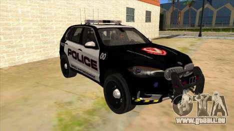 2014 BMW X5 F15 Police pour GTA San Andreas vue arrière