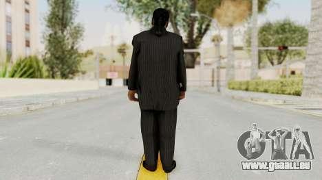 Taher Shah Black Suit pour GTA San Andreas troisième écran