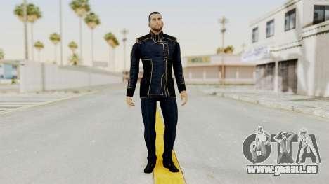 Mass Effect 3 Shepard Formal Alliance Uniform für GTA San Andreas zweiten Screenshot