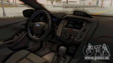 Ford Focus RS 2017 pour GTA San Andreas vue intérieure