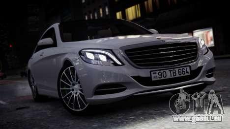 Mercedes-Benz w222 für GTA 4 hinten links Ansicht