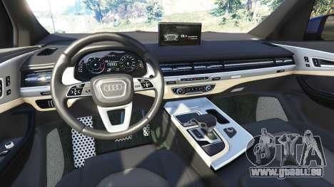 GTA 5 Audi Q7 2015 [rims1] arrière droit vue de côté