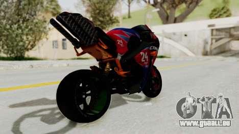 Honda CBR1000RR Mini pour GTA San Andreas laissé vue