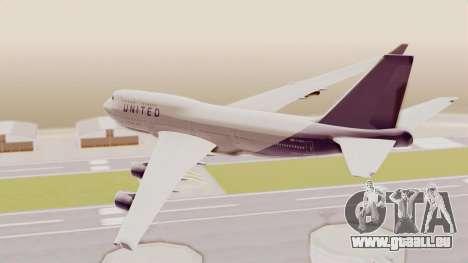 Boeing 747-400 United Airlines für GTA San Andreas rechten Ansicht