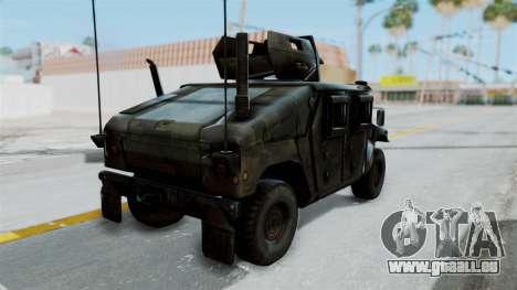Humvee M1114 Woodland für GTA San Andreas linke Ansicht