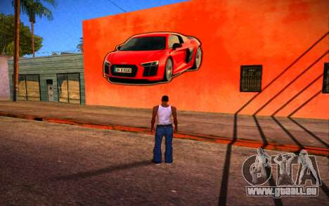 Audi R8 Wall Grafiti für GTA San Andreas