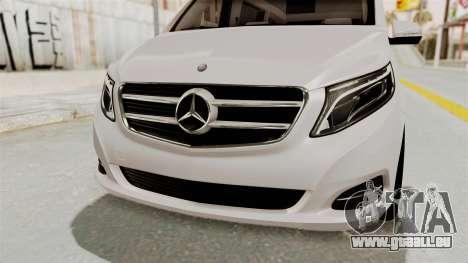 Mercedes-Benz V-Class 2015 für GTA San Andreas obere Ansicht