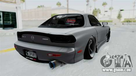 Mazda RX-7 FD3S HellaFlush pour GTA San Andreas laissé vue