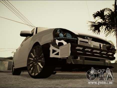 Lada Priora BPAN pour GTA San Andreas sur la vue arrière gauche