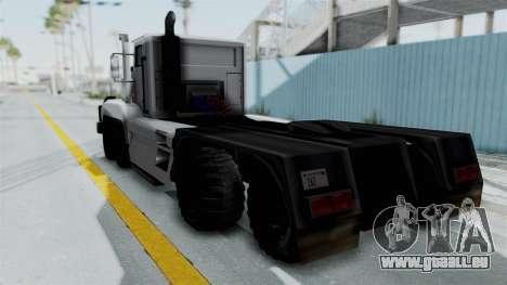 Roadtrain 8x8 v1 pour GTA San Andreas laissé vue