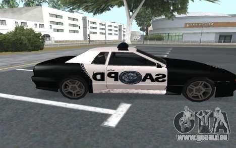 Elegy SAPD pour GTA San Andreas sur la vue arrière gauche