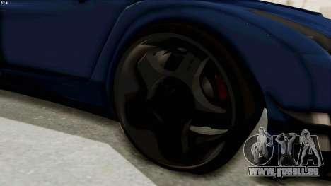 GTA 5 Annis Elegy Twinturbo Spec für GTA San Andreas Rückansicht